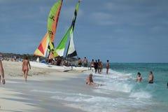 旅馆苦楝根皮Cayo圣玛丽亚-古巴 免版税库存照片