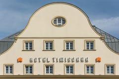 旅馆蒂米什瓦拉在蒂米什瓦拉市中心 库存图片
