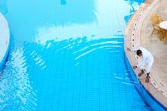 旅馆西瓦Sharm前Savita手段5的雇员*清洗水池, Sharm El谢赫,埃及 免版税库存图片