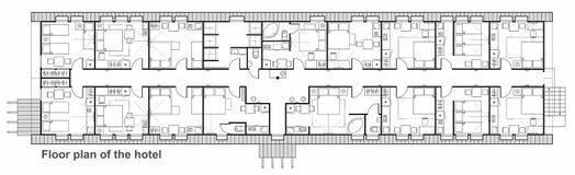 旅馆计划象集合 家具用于建筑学计划的标志收藏 库存图片