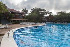 旅馆非常美丽池游泳 库存照片