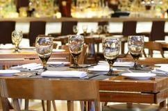 旅馆餐馆用餐 免版税库存照片