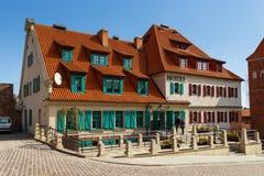 旅馆1231在老镇复合体内位于 托伦,波兰 库存图片