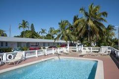 旅馆水池在基韦斯特岛 库存照片