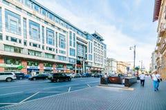 旅馆洲际在Tverskaya街道,莫斯科 库存图片