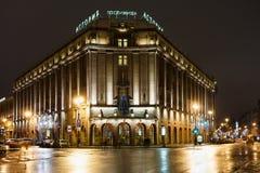 旅馆Astoria在2015年1月1日在StPetersburg,俄罗斯 库存图片