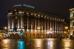 旅馆Astoria在2015年1月1日在StPetersburg,俄罗斯 库存照片