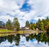 旅馆Blausee,瑞士 库存图片