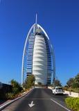 旅馆Burj Al阿拉伯人,阿拉伯风帆在迪拜阿拉伯联合酋长国 库存照片