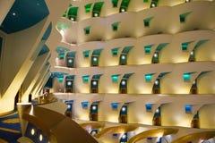 旅馆Burj Al阿拉伯人-内部 免版税图库摄影
