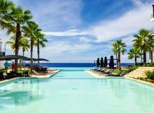 旅馆caribe放松 图库摄影
