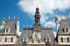旅馆de Ville,巴黎,法国。 免版税库存照片