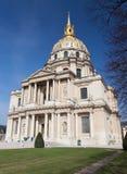 旅馆des invalides教会,巴黎, 库存照片