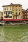 旅馆du palais de l `小岛的门面 库存图片