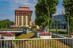 旅馆Dunav在武科瓦尔 图库摄影