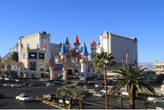旅馆Excalibur,拉斯维加斯 库存图片