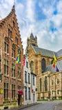 旅馆Het Gheestelic Hof,布鲁基,比利时 库存图片
