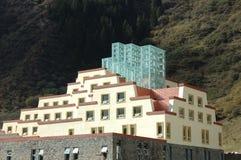 旅馆huanglong样式藏语 免版税库存图片