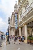 旅馆Inglaterra,哈瓦那,古巴 免版税库存图片