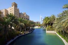 旅馆jumeirah madinat 免版税图库摄影