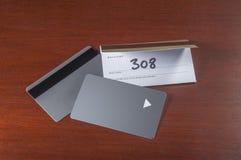 旅馆keycards或cardkeys 库存图片
