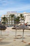 旅馆Las竞技场和冬天海滩 免版税库存照片