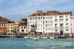旅馆Londra宫殿在威尼斯,意大利 免版税库存图片