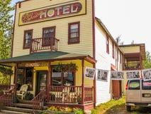 旅馆McCharthy, Wrangell St伊莱亚斯国家公园,阿拉斯加 免版税图库摄影