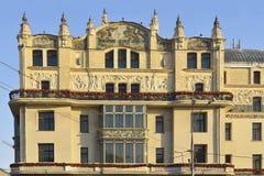 旅馆Metropol在1899-1907 (修造在艺术Nouveau样式) 免版税图库摄影