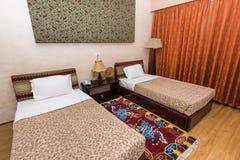 旅馆Migmar旅馆客房在廷布,不丹 免版税库存照片
