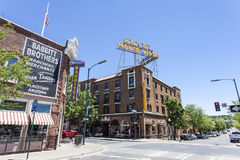 旅馆Monte景色门面在旗竿,亚利桑那的中心 库存照片