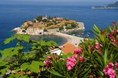 旅馆montenegro stefan sveti 免版税库存照片