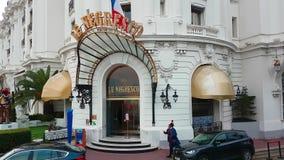 旅馆Negresco入口  股票视频