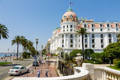 旅馆Negresco在尼斯,法国 免版税图库摄影