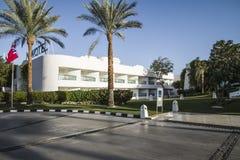旅馆novotel海滩 免版税库存图片