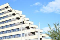 旅馆Pyramida的Windows 库存图片