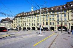 旅馆Schweizerhof在伯尔尼 库存图片