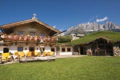 旅馆Stangelwirt,奥地利 库存图片