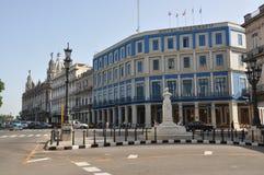 旅馆Telegrafo和旅馆Inglaterra,哈瓦那,古巴 库存图片