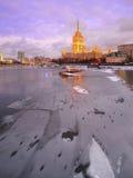 旅馆Ukrain在莫斯科 免版税库存照片