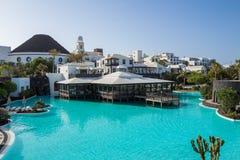 旅馆Volcà ¡ n兰萨罗特岛 免版税库存照片