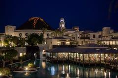 旅馆Volcan兰萨罗特岛在晚上 图库摄影