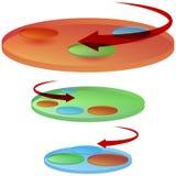 旋转式磁盘图表 免版税库存图片