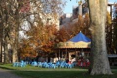 旋转木马在Bercy公园  免版税图库摄影