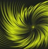 旋转的深绿抽象背景由绿色光滑的曲线管制成 图库摄影