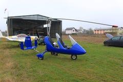 旋转直升飞机 库存图片