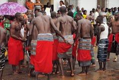 族群阿比将Ebrié一代节日  库存图片