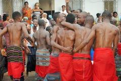 族群阿比将Ebrié一代节日  图库摄影