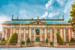 贵族- Riddarhuset议院在斯德哥尔摩 免版税库存图片