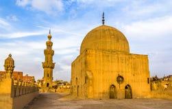 贵族AlMaridani清真寺的圆顶和尖塔在开罗 库存照片